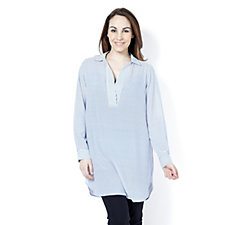 C. Wonder Striped Tunic with Side Slits
