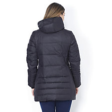 Centigrade Petite Matte Shine Lightweight Down Coat
