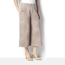 MarlaWynne Jacquard Knit Pintuck Detail Culottes