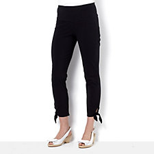 Women with Control Regular Tie Side Crop Trousers