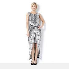Grace Printed Stripe Sleeveless Maxi Dress