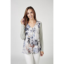 Fashion by Together Faded Floral Print Top