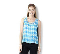 Annalee + Hope Printed Trim Detail Sleeveless Top - 146182