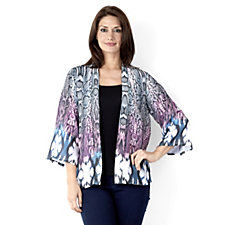 Trinny & Susannah Animal Print Flared Sleeve Cardigan