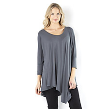 Join Clothes Scoop Neck Jersey Top with Asymmetric Front