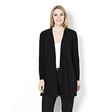 Longline Cardigan with Back Pleat by Nina Leonard