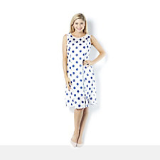 Ronni Nicole 'O So Slim' Fit & Flare Lace Dress with Large Spot Print