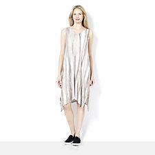 159782 - The Lisa Rinna Collection Sharkbite Hem Sleeveless Tank Dress
