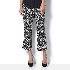 Antthony Designs Printed Pull On Crop Trouser