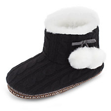 Cuddl Duds Faux Fur Lined Ankle Bootie Slippers