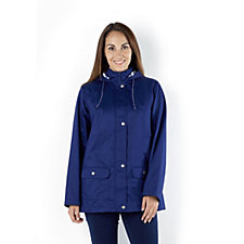 Denim & Co. Water Resistant A-Line Jacket