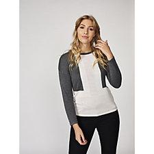 Marble Drop Shoulder Colour Block Sweater