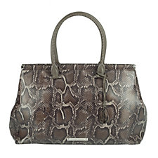 Amanda Wakeley The Brando Leather Python Print Tote Bag