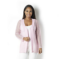 Sparkle Crochet Edge to Edge Cardigan by Michele Hope