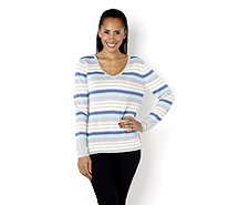 Fashion by Together Pastel Multi Stripe Sweater - 132683