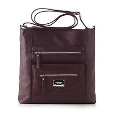 Tignanello Pebble Leather Perfect Pocket Large Function Crossbody Bag