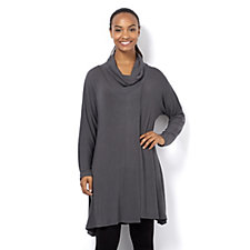 Join Clothes Long Sleeve Lightweight Knit Cowl Neck Tunic