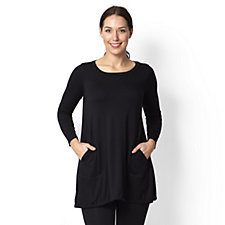 Yong Kim Modal Tunic with Pocket Detail