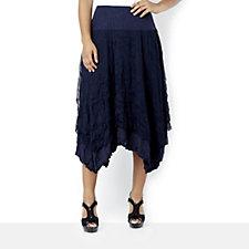 Yong Kim Crinkle Mesh Skirt