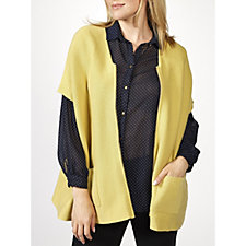 MarlaWynne Double Knit Zip Front Cardigan