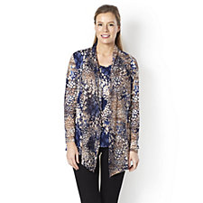 158983 - Mr Max Twinset Printed Top with Lace Trim Cardigan
