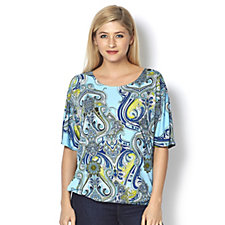 Mr Max Batwing Sleeve Printed Top