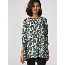 Logo by Lori Goldstein Printed Jersey Boat Neck Top