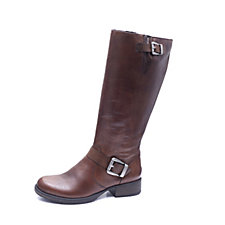 Rieker Double Buckle Knee Length Biker Boot
