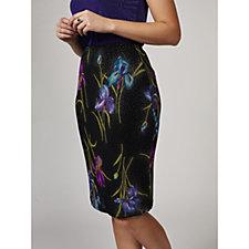Kim & Co Iris Foil Slinky Pencil Skirt