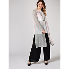 MarlaWynne Fine Knit Colour Block Duster