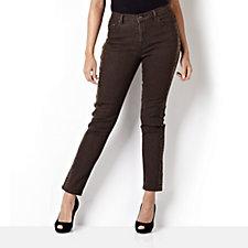 Diane Gilman Printed Side Stripe Skinny Jean