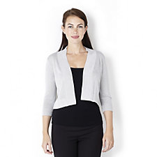Ronni Nicole Edge to Edge Metallised Fibre Shrug