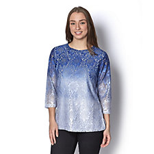 Isaac Mizrahi Live Ombre Lace Knit Tunic