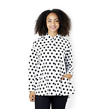 Yong Kim Blouse with Polka Dot Print
