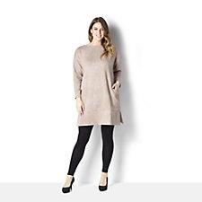 MarlaWynne Jacquard Knit Tunic Dress