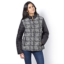 Centigrade Tweed Front Padded Jacket