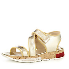 Manas Metallic Leather Adjustable Strap Sandal
