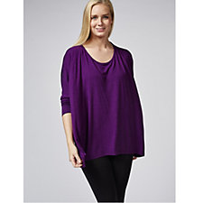 Join Clothes Batwing Sleeve Sharkbite Hem Tunic