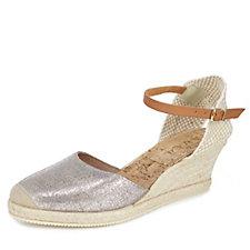 Ravel ETNA Metallic 2 Part Espadrille Sandal with Ankle Strap