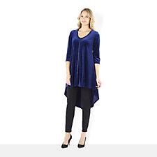 Join Clothes Velvet Zip Through Dipped Hem Tunic