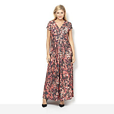 Fashion by Together Printed Cap Sleeve Maxi Dress