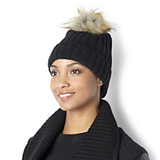 Pia Rossini Sophia Faux Fur Bobble Hat
