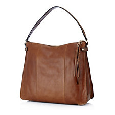 Tignanello Carson Vintage Leather Hobo Bag with RFID Protection