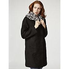Centigrade Faux Fur Collar Coat