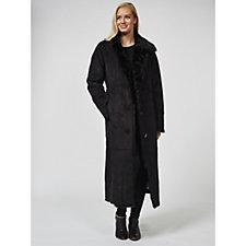 168485 - Dennis Basso Full Length Faux Shearling Coat