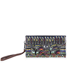 The Sak Artist Circle Printed Coated Flap Wallet