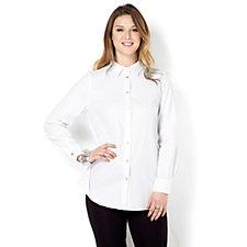 MarlaWynne Chevron Textured Shirt
