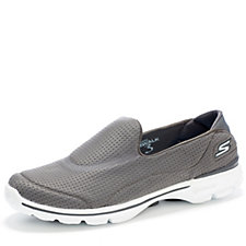 Skechers GOwalk 3 Unfold Stretch Knit Slip on with GO Pillars