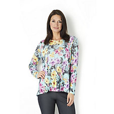 Kim & Co Tokyo Floral Print Edge to Edge Cardigan & Sleeveless Top