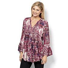 Fashion by Together Printed Crinkle Blouse